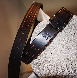 Genderfree Modern Leather Belt by Nik Kacy Footwear